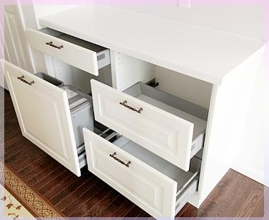 IKEA引き出し式背面カウンター