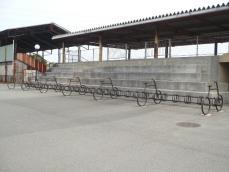 特徴的な駐輪場