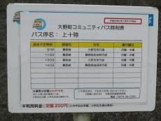 同じく豊後大野市のバス時刻表