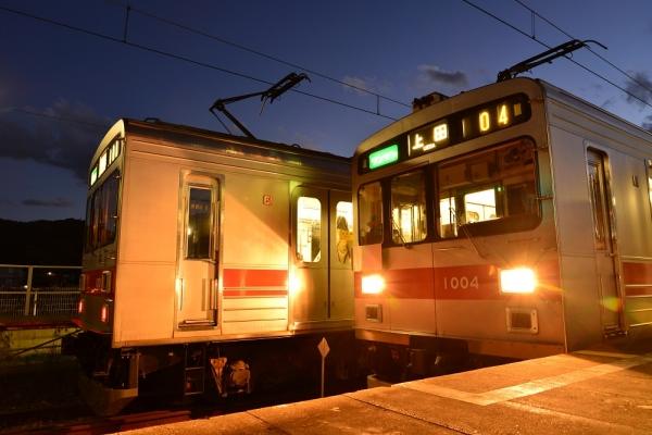 2013年11月21日 上田電鉄別所線 城下 1000系1001F/1004F