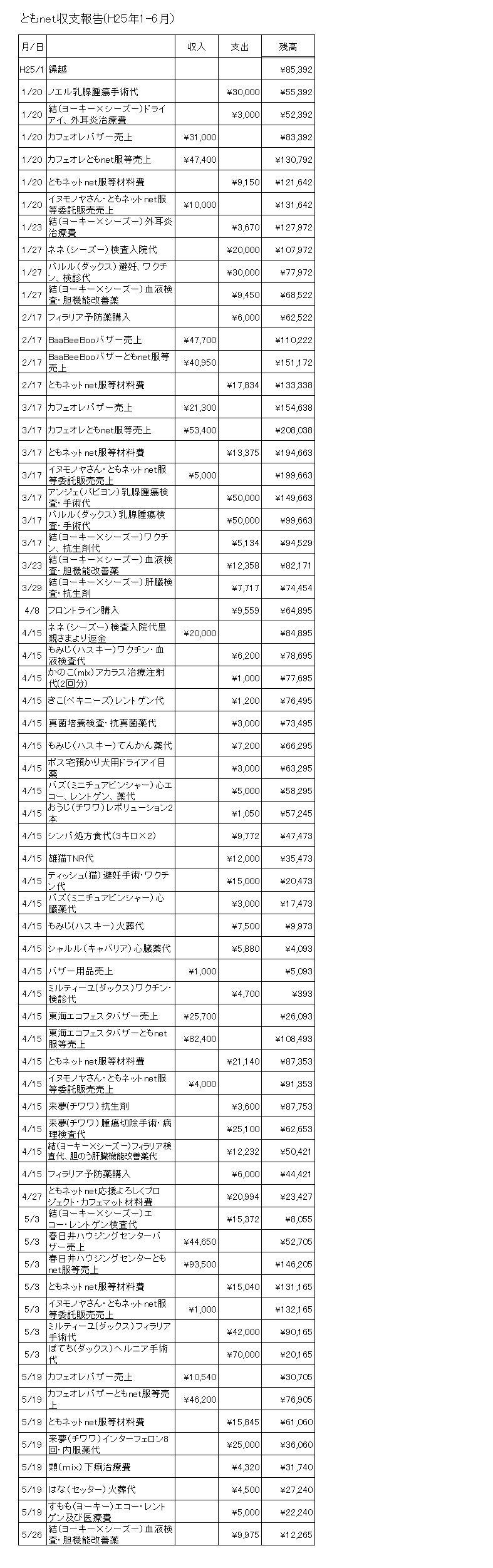 収支報告1