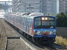 安治川口駅より、USJ列車を見る。