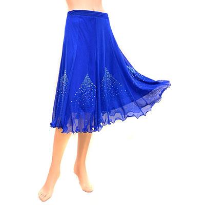 総メッシュ裾ふんわりクリアストーン付スカート