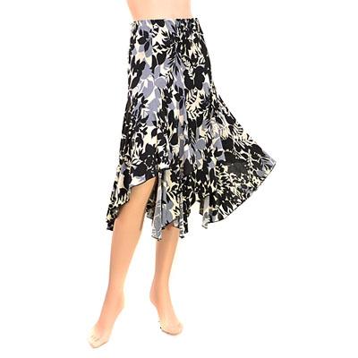 総柄裾ランダムカットスカート