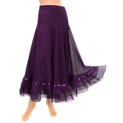 総メッシュ裾リボンとオーガンジーふんわりスカート