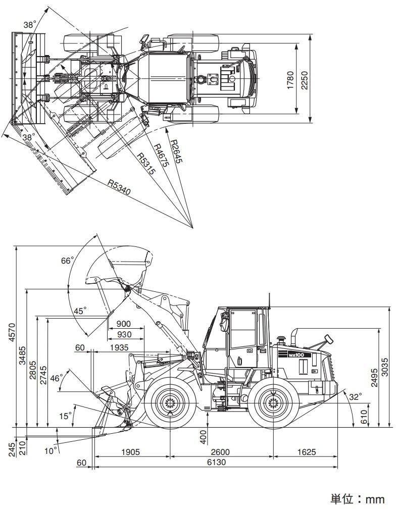 コマツ小型ホイルローダー(WA100-6)