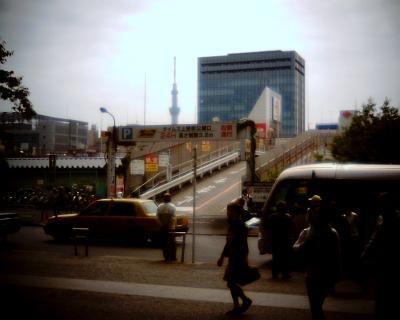 上野駅前で東京スカイツリー:Entry