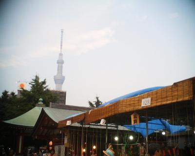浅草寺ほおずき市と東京スカイツリー:R2
