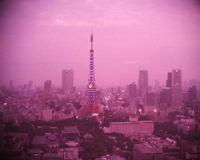 真っ赤っ赤の東京タワー写真:R2