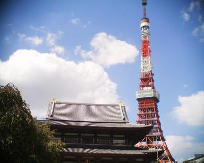 増上寺と東京タワーと月?:R2