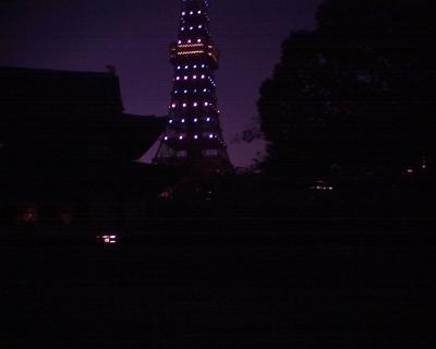 増上寺で東京タワー:R2
