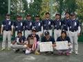H26朝日社旗男子2部準優勝:花田ソフトボールクラブ