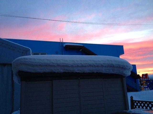 124屋根雪