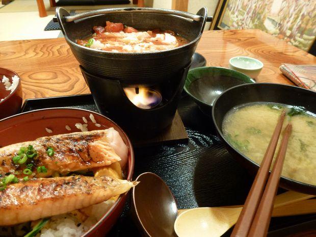 鮭ハラス丼→リゾットに変身中ww