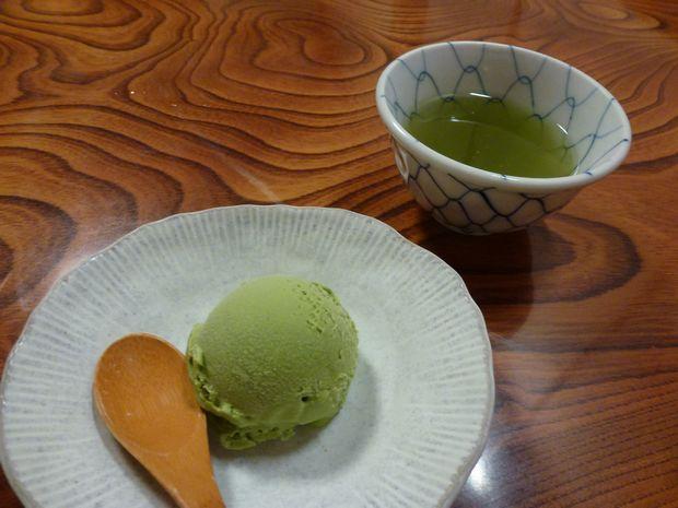 抹茶と抹茶アイス