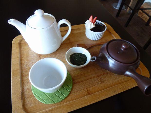 デザートとお茶セット