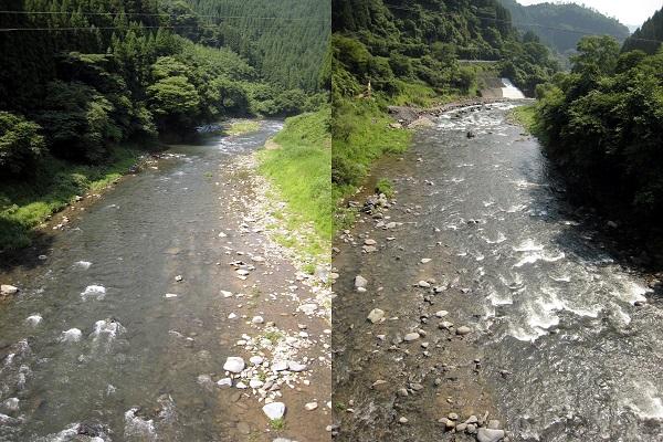 津江川/川辺橋周辺