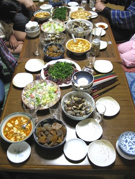 20130528義弟夫婦達参上夕食1