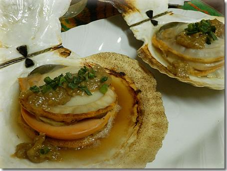 ホタテ貝殻焼き