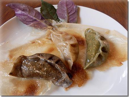 海藻皮の熟成黒豚ギョーザ