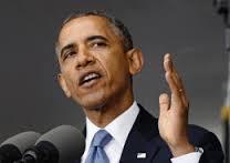 アジア回帰発言をするオバマ大統領