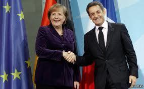 メルケル首相とサルコジ大統領