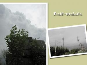 ドンヨォ~リ嫌な雲です事 (--lll