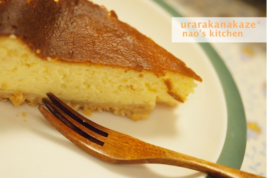 柚子風味のベイクドチーズケーキ