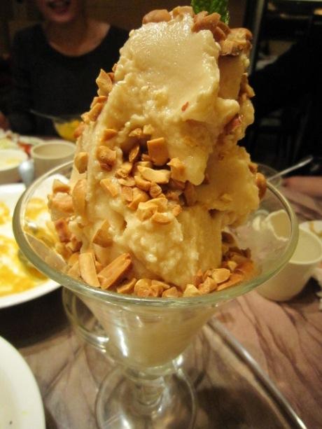 ピーナッツのアイスクリーム