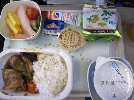 羽田ー金浦の機内食