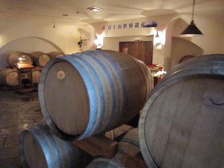 ワインの樽を見てから