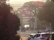 7:29 饗土橋姫神社から見た、宇治橋