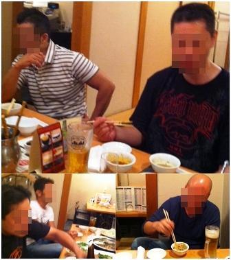 懇親会の様子 四川火鍋を食す。