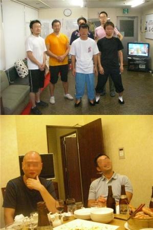 納涼会前の練習参加者で記念撮影