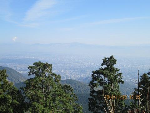 金峰山山頂から眺望