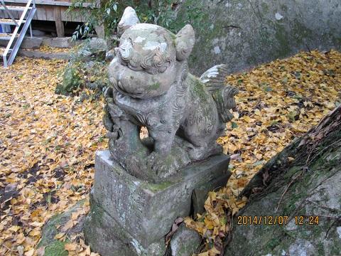 矢岳神社の狛犬