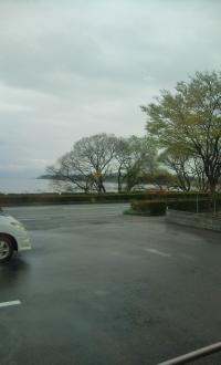 雨のランチ