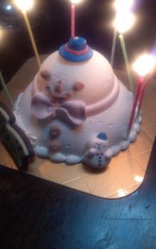 ゆきだるまケーキ