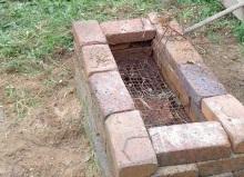 手作りバーベキュー炉