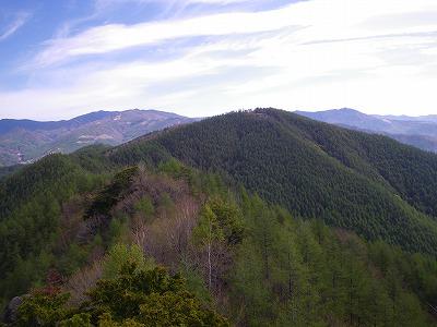 幕岩からの小楢山
