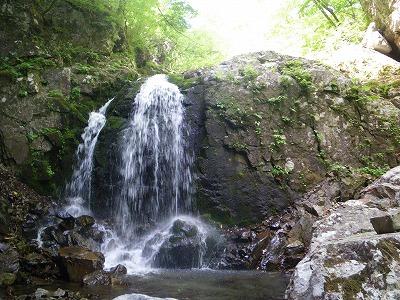 連瀑帯最後の滝