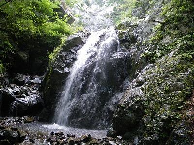 連瀑の上の滝