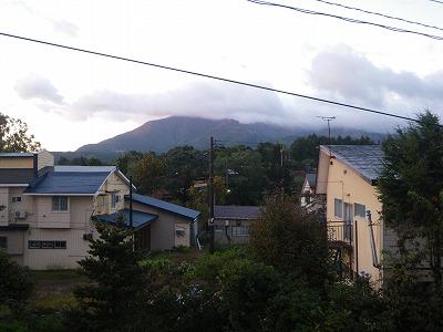 宿からの磐梯山