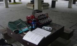 アコーディオンの練習~鏡山公園20130430-2