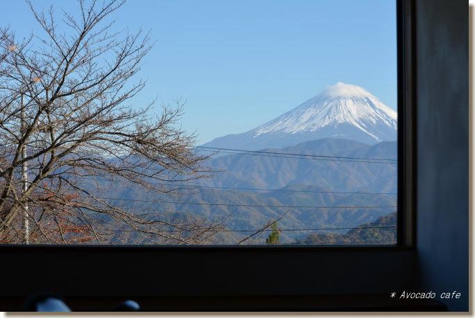 カフェからの富士山