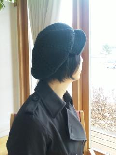 かぎ針編みのキャスケット2