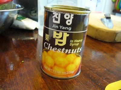 栗の甘露煮缶