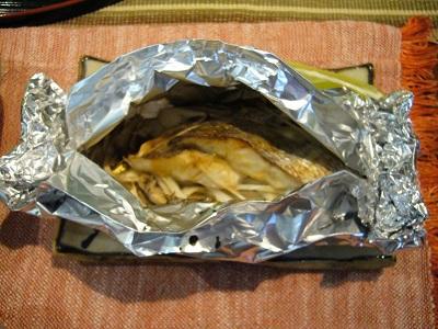 鯛のアルミホイル焼き