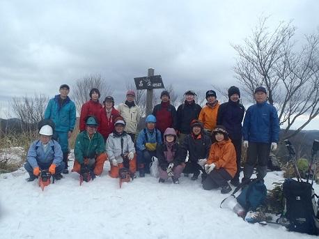 高岳山頂整備ボランテイア 024