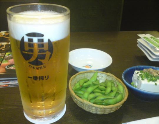 中津居酒屋ビール